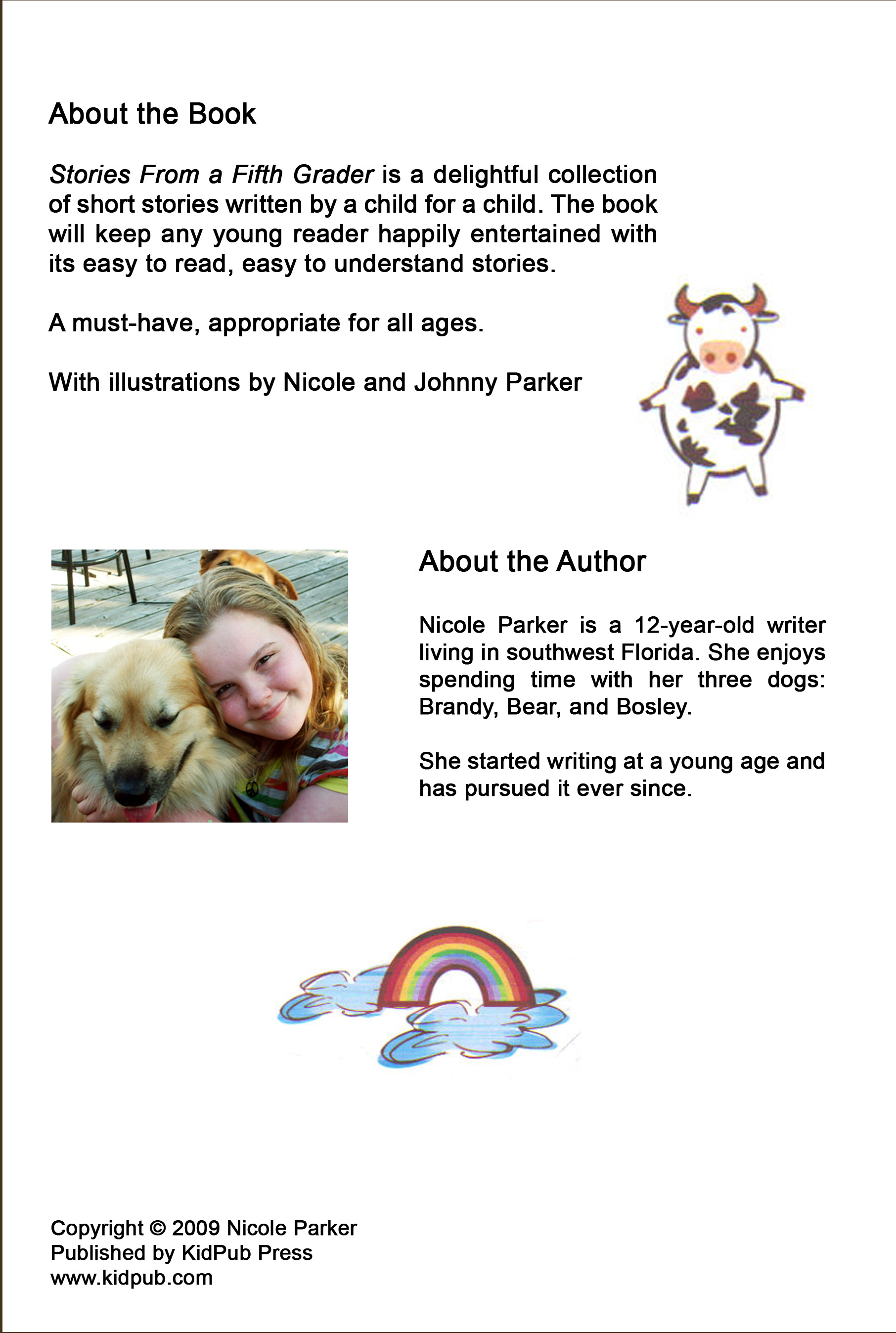 Worksheet Fifth Grade Short Stories stories from a 5th grader by nicole parker kidpub press click for large view about the book fifth grader
